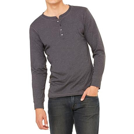 Bella + Canvas Jersey Long-Sleeve Henley
