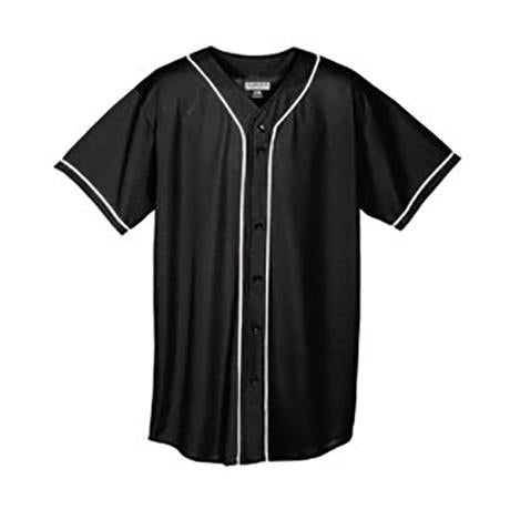 Augusta  Wicking Mesh Braided Trim  Baseball Jersey