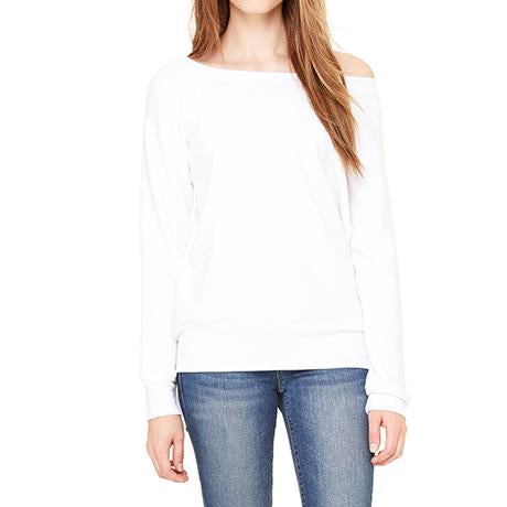 Bella + Canvas Ladies' Wide Neck Sweatshirt