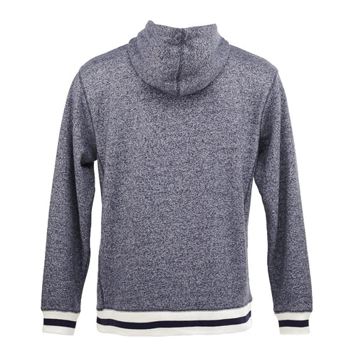 Peppered Fleece Lapover Hooded Sweatshirt