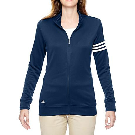 adidas Golf Ladies' Climalite 3-Stripes Full-Zip