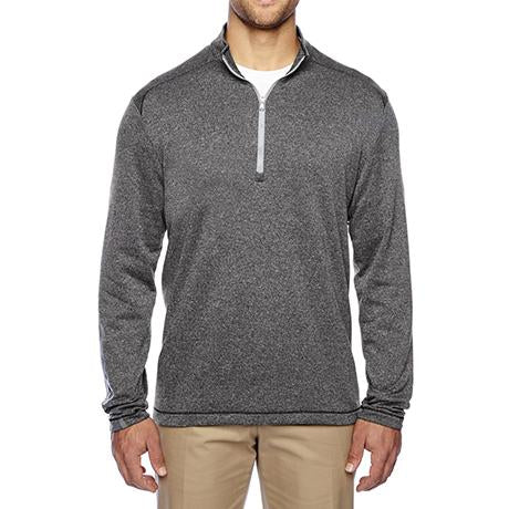 adidas Golf Heather 3-Stripes Quarter-Zip Layering