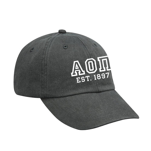 AOII DISTRESSED BASEBALL CAP(4590177386565)