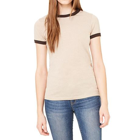 Bella + Canvas Ladies' Jersey Short-Sleeve Ringer T-Shirt