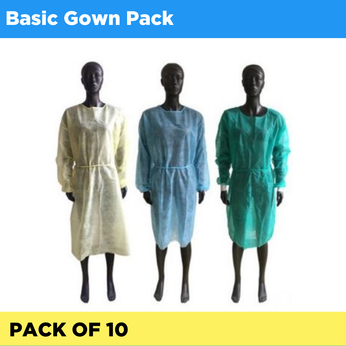 Basic Gown - Pack of 10 (Listing ID: 4653900202053)