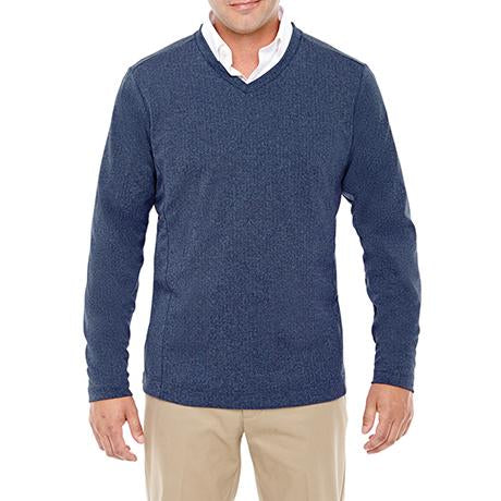 Devon & Jones Fairfield Herringbone V-Neck Pullover