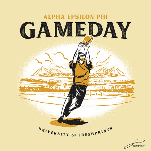 AEPhi Sketched Gameday Art