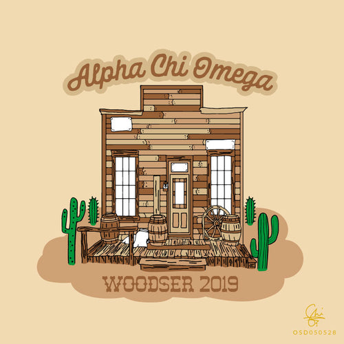 A-Chi-O Woodser Hand Drawn Art