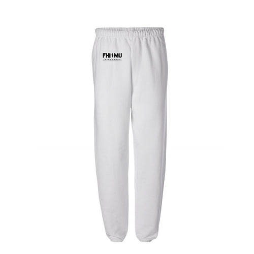Phi Mu White Lightning Bolt Sweatpants(Listing ID : 4609821966405)