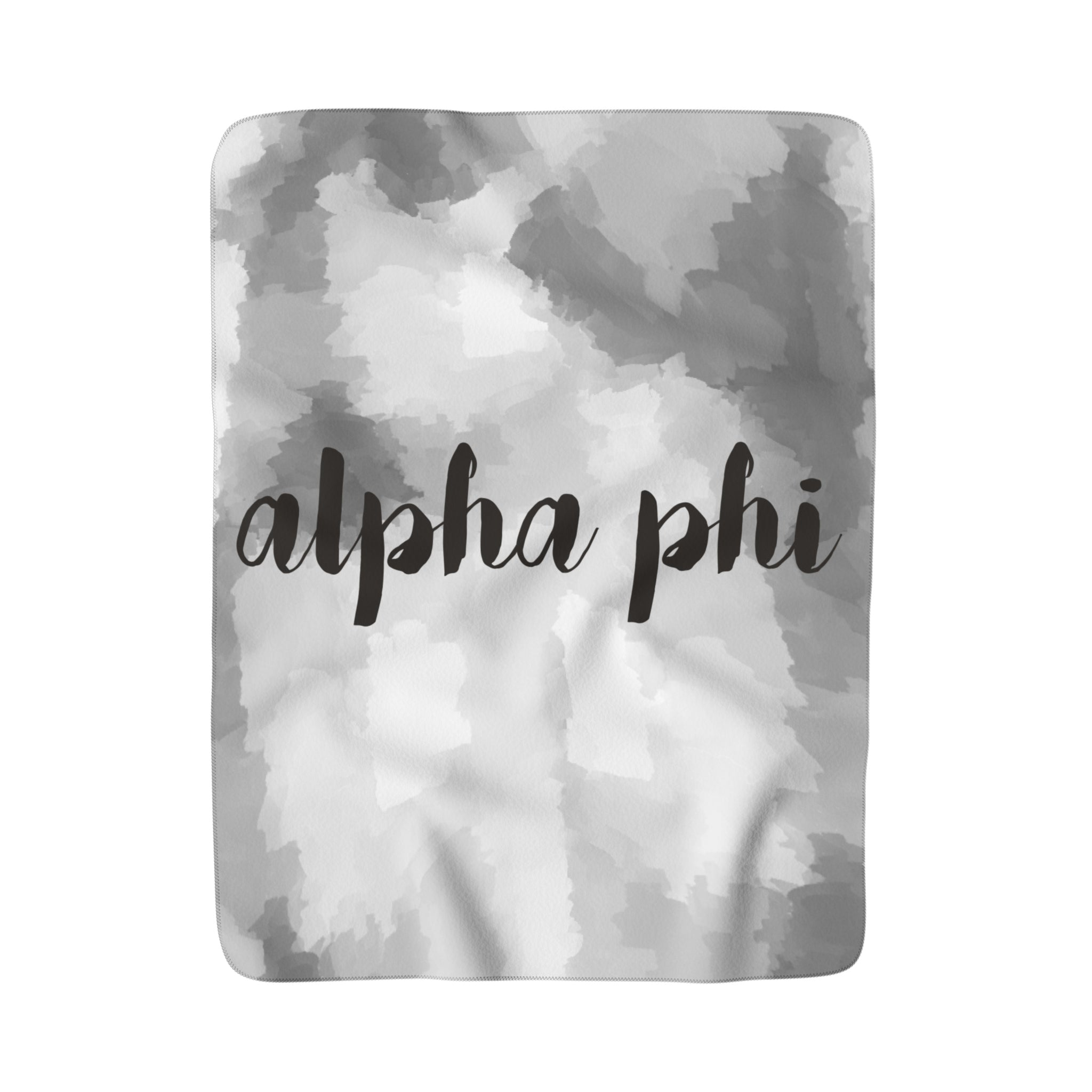 "The Alpha Phi ""Couldn't be Softer"" Sherpa Blanket"