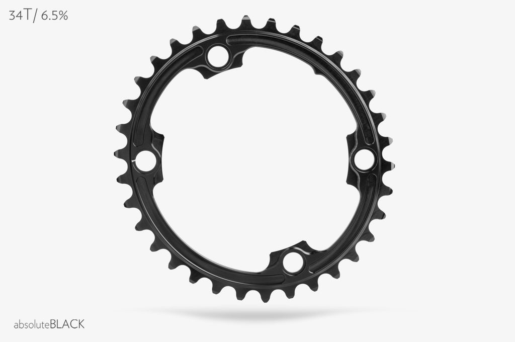 Absolute Black FSA ABS Oval Outer Chainring