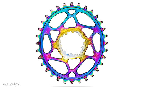 OVAL BOOST DIRECT MOUNT CHAINRING FOR SRAM - PVD RAINBOW