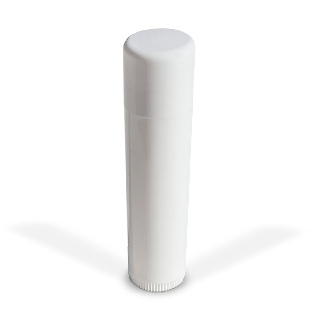 100 Pack Empty Lip Balm Tubes Containers - White