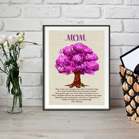Personalized Mothers Day Family Tree Canvas Painting