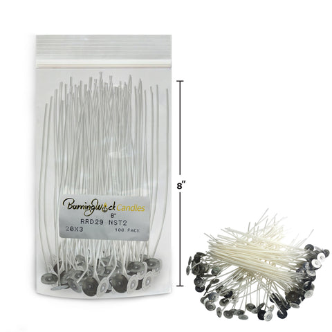 Candle Making Wicks - Medium 8 Inch 100 Pack
