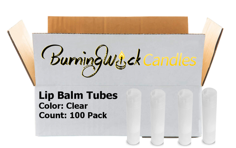 100 Pack Empty Lip Balm Tubes Containers- Clear