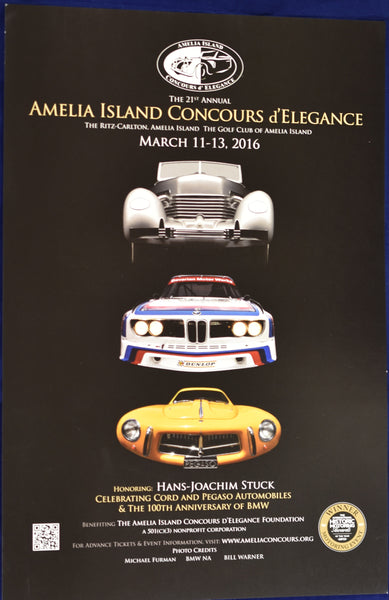 2016 Amelia Island Concours d'Elegance Promotional Poster