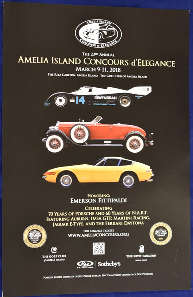 2018 Amelia Island Concours d'Elegance Promotional Poster