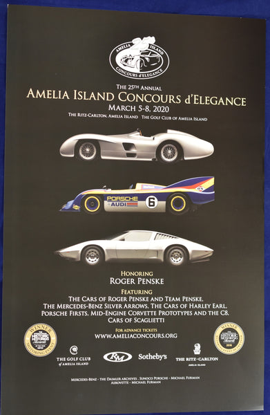 2020 Amelia Island Concours d'Elegance Promotional Poster