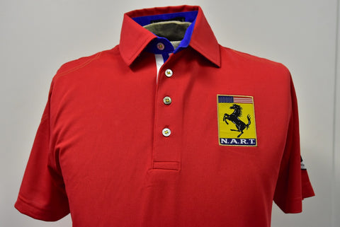 2018 60 Years of N.A.R.T Finn Ryan Custom Official Polo in RED
