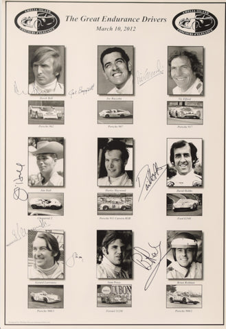 Autographed The Great Endurance Drivers Seminar Poster
