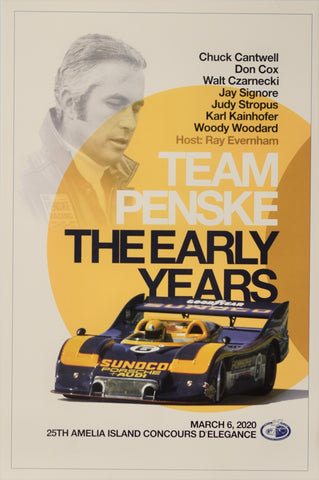 Team Penske - The Early Years Seminar Poster