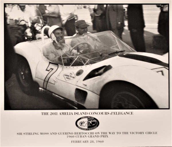 LIMITED EDITION Sir Stirling Moss 1960 Cuban GP Victory Poster