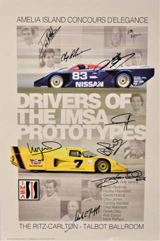 Autographed Drivers of the IMSA Prototypes Seminar Poster