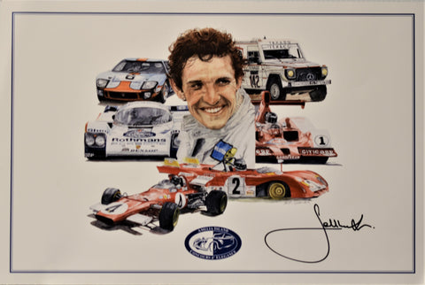 Jacky Ickx Autographed Limited Edition Poster
