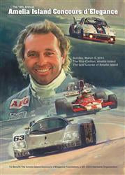 Official 2014 Event Poster for The Annual Amelia Island Concours d'Elegance SIGNED by Honoree Jochen Mass