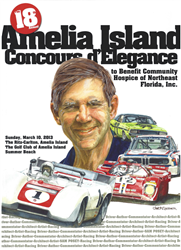 Official 2013 Event Poster for The Annual Amelia Island Concours d'Elegance SIGNED by Honoree Sam Posey