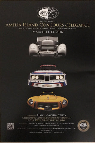 2016 Amelia Island Concours d' Elegance Advertising Poster