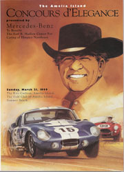 1999 Official Event Poster for The 4th Annual Amelia Island Concours d'Elegance UNSIGNED