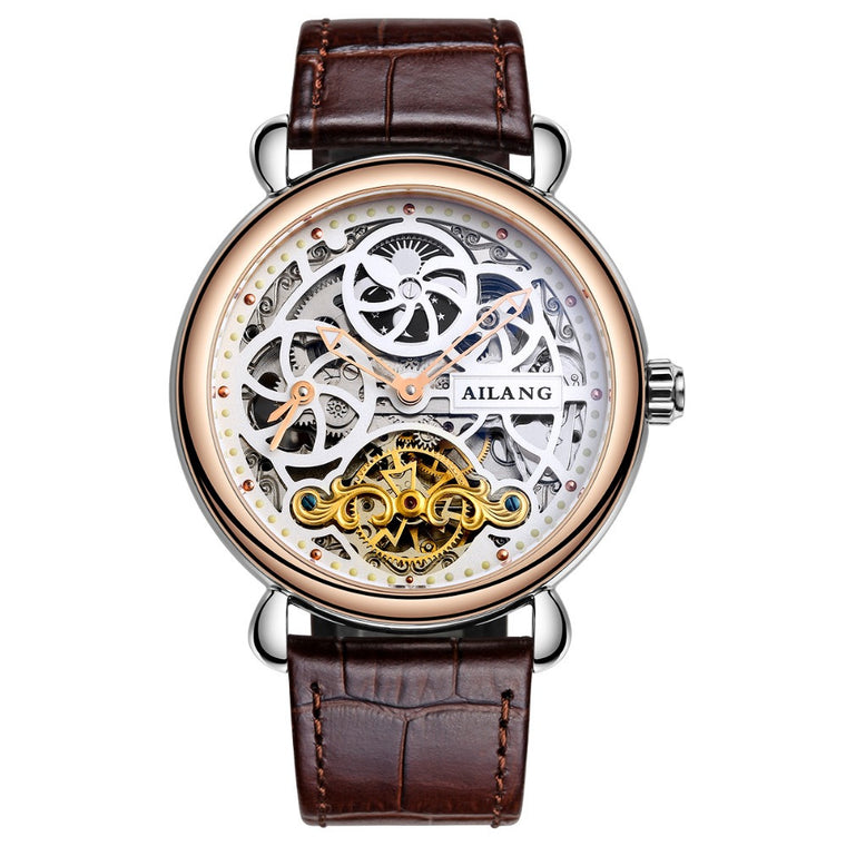 "AILANG ""L'Oasis"" Automatic Skeleton Tourbillon Watch"