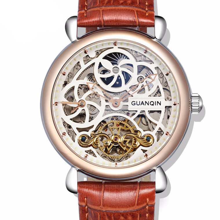 "GUANQIN ""Infinity Andromeda"" Automatic Skeleton Tourbillon Watch"