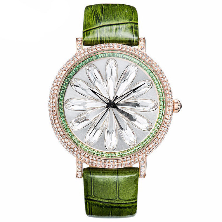 """Lotus"" Swarovski Crystal Quartz Watch"