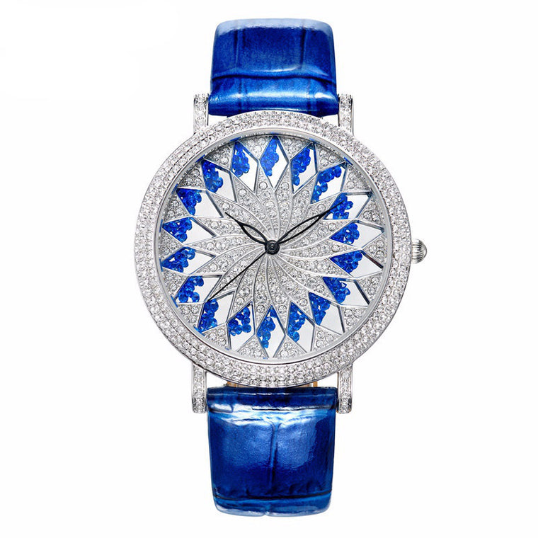 """Sunflower"" Swarovski Crystal Quartz Watch"