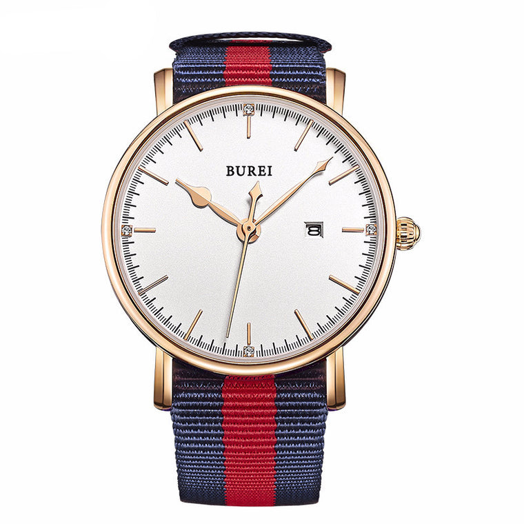 "BUREI ""SL-13002"" Super-Slim Quartz Watch"