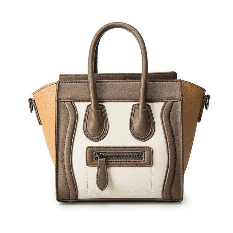 """Face It"" Tote Handbag - Leatherette"