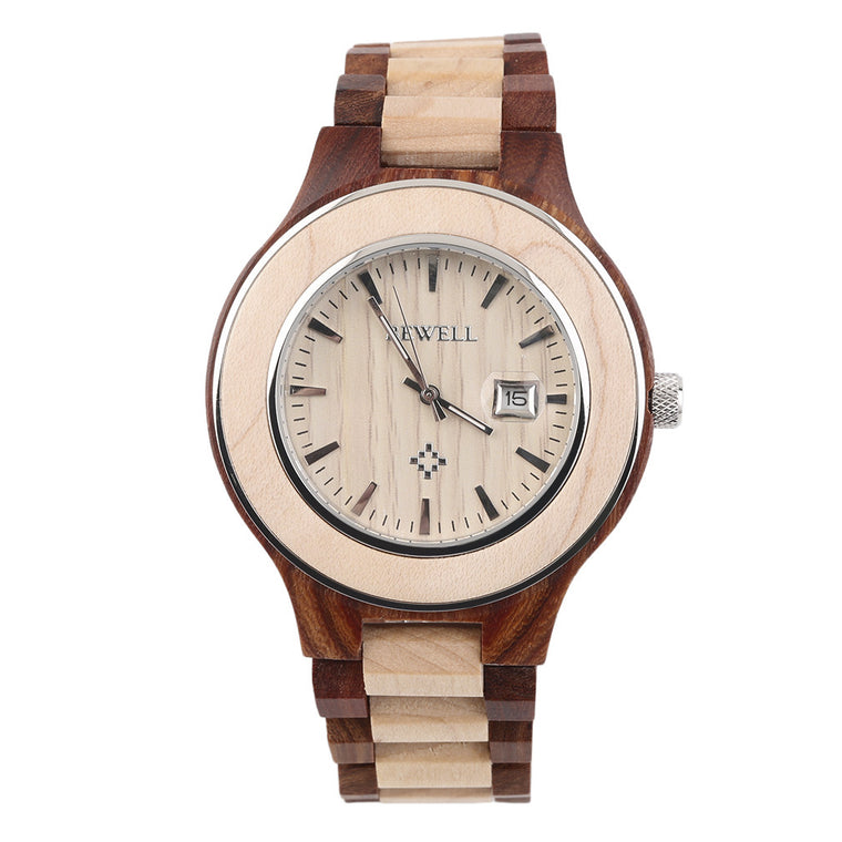 """Grain"" Wooden Quartz Watch, Variants for Ladies & Gentlemen"