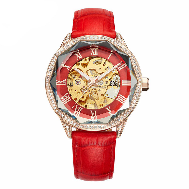 """Taboo"" Swarovski Crystal Mechanical Watch"