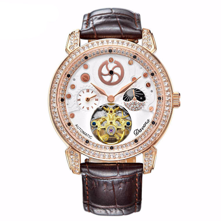 """Hammam Bouquet"" Swarovski Crystal Mechanical Chronograph"