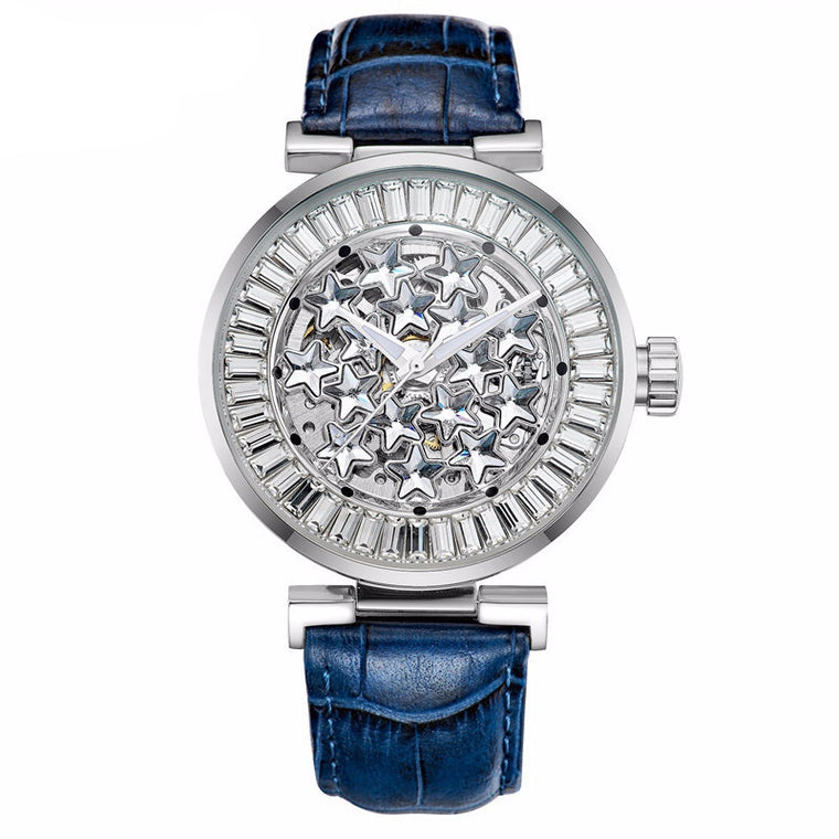"""Kouros"" Swarovski Crystal Mechanical Watch"