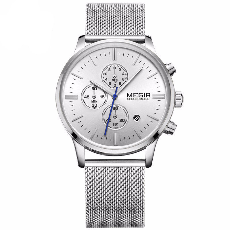 """Berrocal"" Mesh Quartz Chronograph"