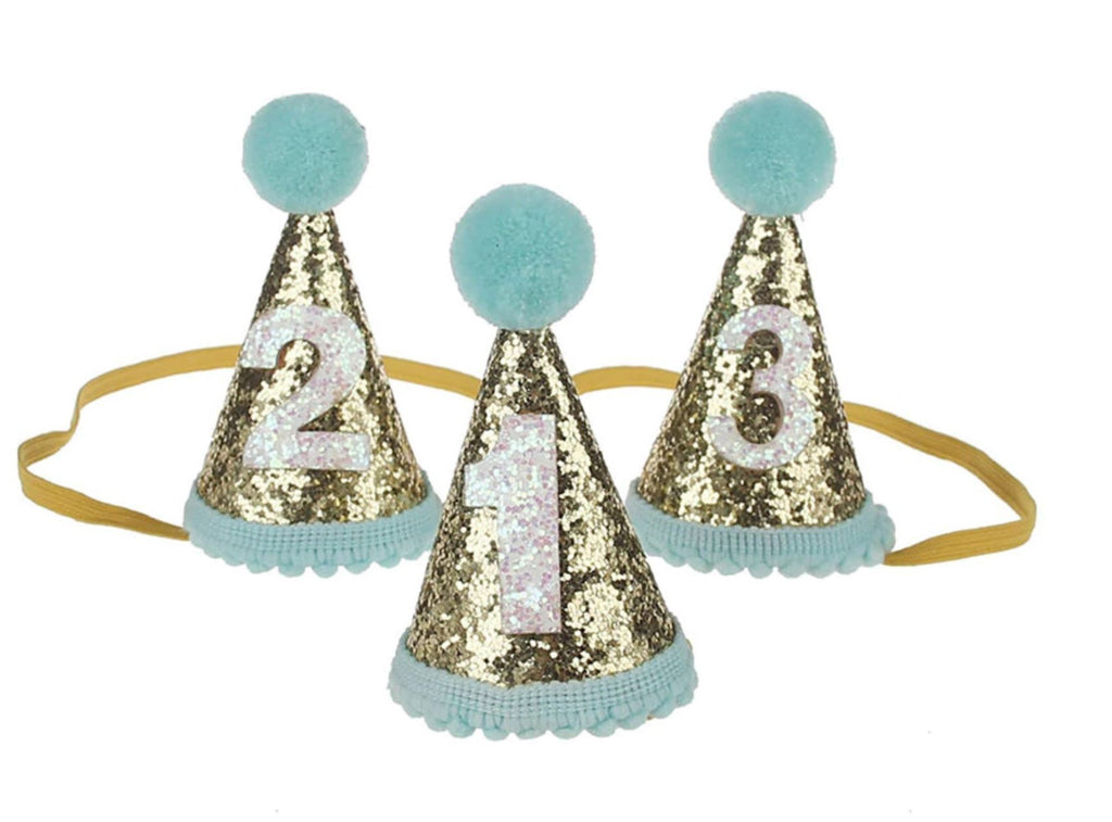 Doggie Trends Nyc Blue 1 Glitter Dog Birthday Hat