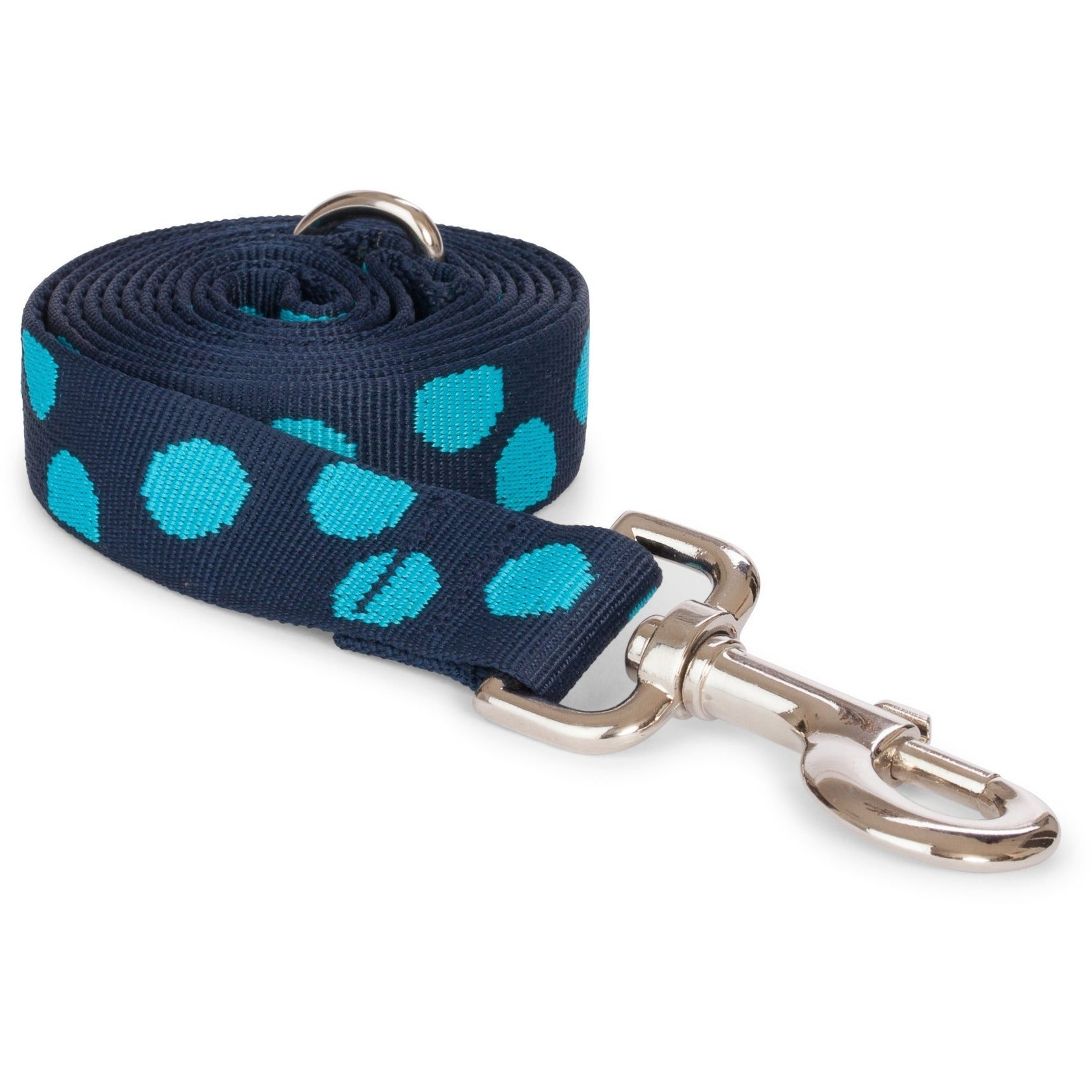 Doggie Trends Nyc Blue Polkadot Dog Leash