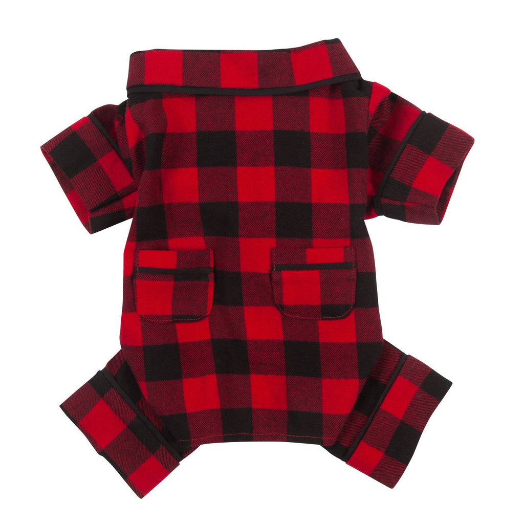 Doggie Trends Nyc Clothing Red Plaid Dog Pajamas