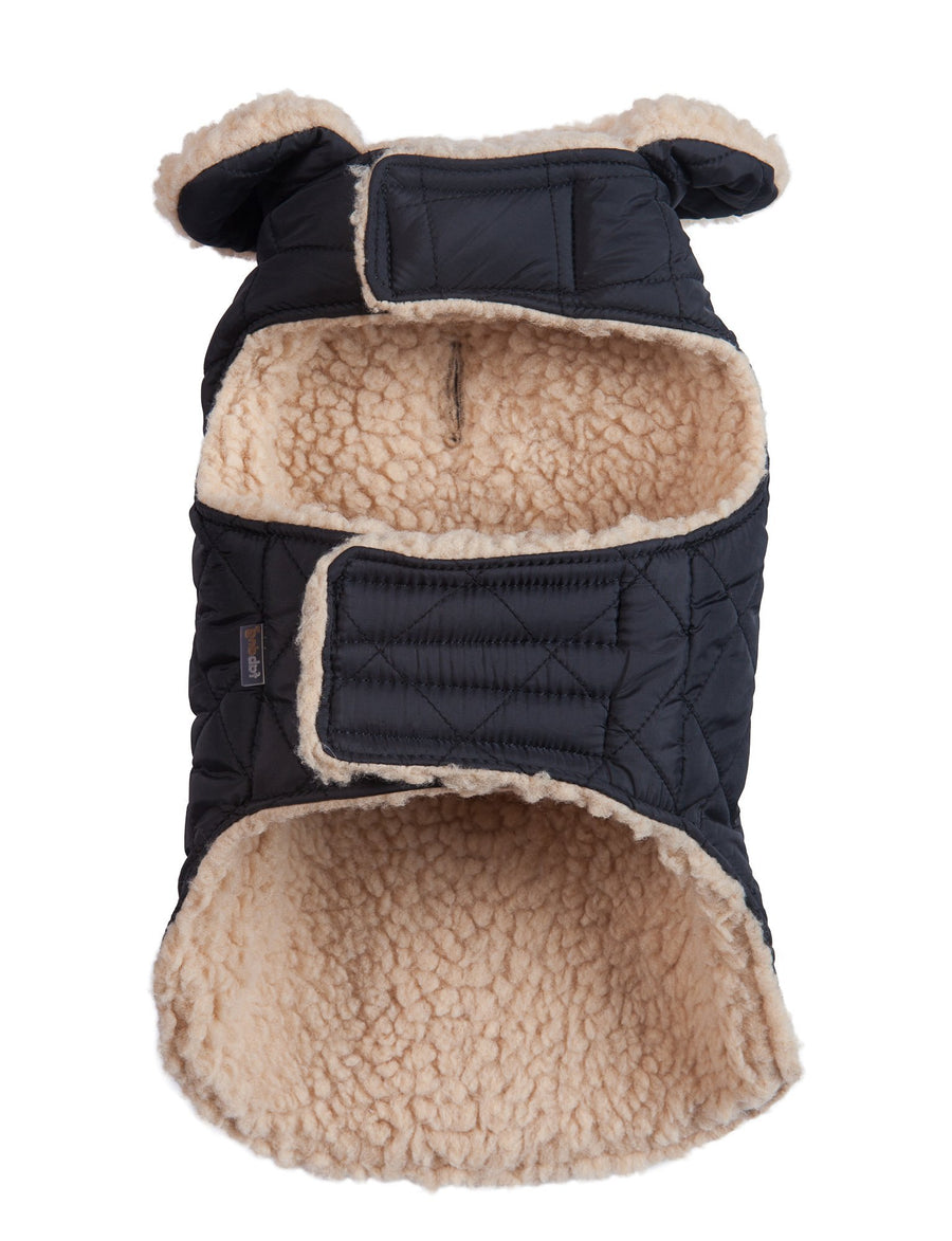 Doggie Trends Nyc Coat Black Quilted Dog Coat
