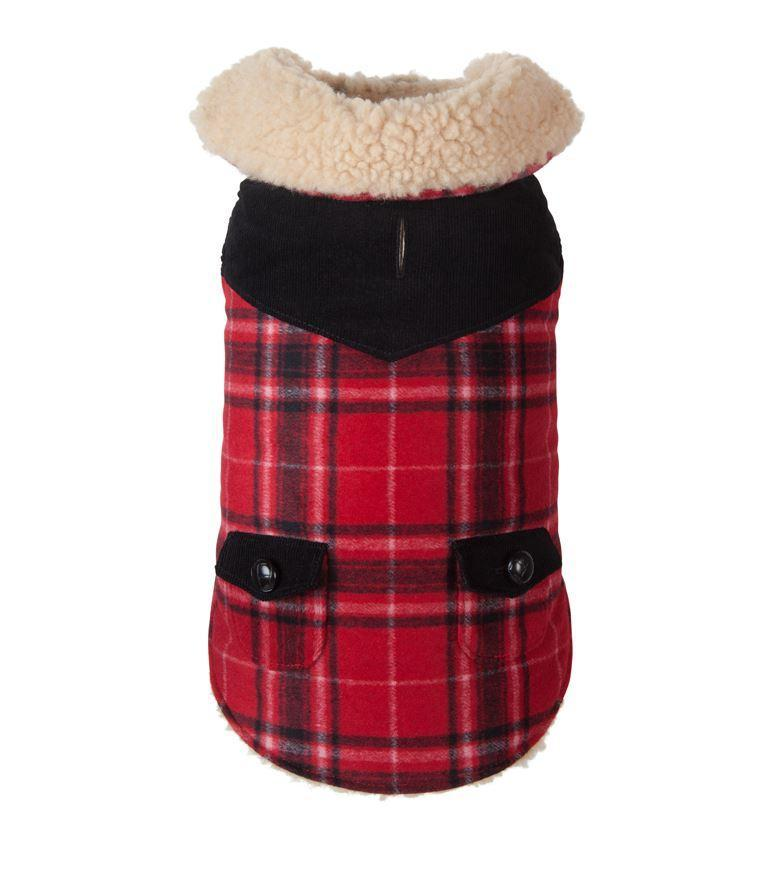 Doggie Trends Nyc Coat Red Plaid Wool Dog Coat