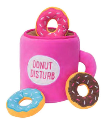 Doggie Trends Nyc Coffee and Donut Burrow Dog Toy